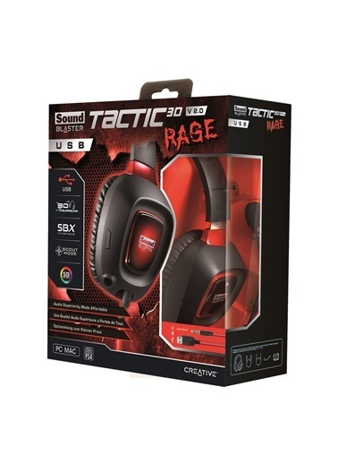 Creative Headset Sb Tactıc 3D Rage Usb Gamer V2 Siyah